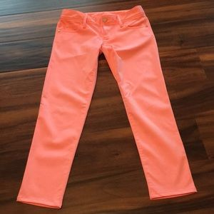 NWOT Lilly Pulitzer Worth Skinny Melon Peach Jeans
